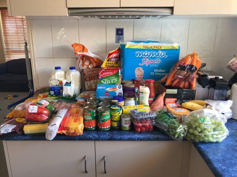 Our Groceries from Aldi this week!